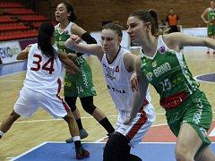 Košíkářky Nymburka prohrály první semifinále s KP Brno.