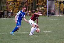 Z fotbalového utkání krajského přeboru Bohemia Poděbrady - Vlašim B (2:2, PK 4:3)