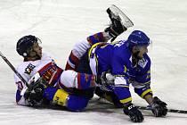 Z hokejového utkání druhé ligy Nymburk - Písek (3:5)