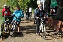 U restaurace Cidlina na soutoku řek si dala zastávku řada cyklovýletníků.