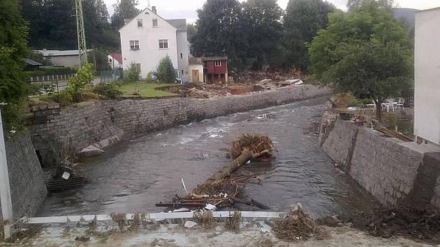 Město Chrastava v týdnu po povodních