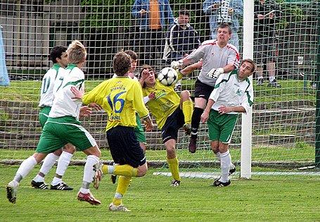 Ze zápasu Polaban Nymburk - Sedlčany (3:1).