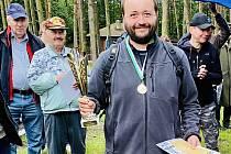 Vítěz. První místo vybojoval při šachovém turnaji v Kersku Pavel Jirásek