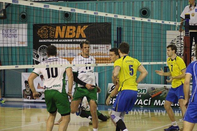 Z volejbalového utkání první ligy Nymburk - Choceň (2:3)
