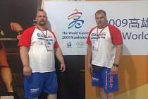 Milan Špingl (vlevo) a Petr Slanička na Světových hrách na Taiwanu.
