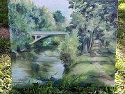 Svěřenkyně malíře Jana Severy malovaly u Jizery.