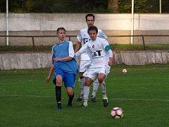 Z fotbalového utkání I.A třídy Mnichovo Hradiště - Bohemia Poděbrady (0:3)