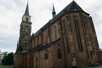Kostel svatého Jiljí na Kostelním náměstí v Nymburce.