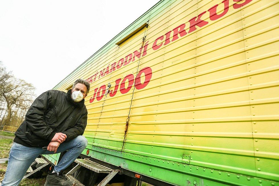 Zimoviště cirkusu JO-JOO ve Zbožíčku u Nymburka