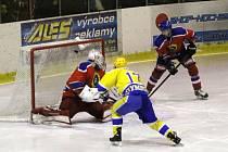 Z utkání druhé hokejové ligy Nymburk - Kobra Praha (4:3)