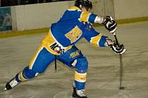 Z utkání druhé hokejové ligy Nymburk - Pelhřimov (5:6 SN)