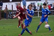 Z fotbalového utkání krajské I.A třídy Bohemia Poděbrady - Český Brod B (0:1)