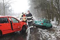 Nehoda naštěstí bez zranění se stala v Babíně v úterý odpoledne.