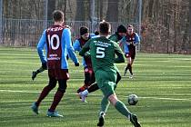 Z přípravného fotbalového utkání Bohemia Poděbrady - Polaban Nymburk (3:1)
