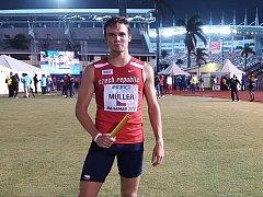 Nymburský atlet Vít Müller na šampionátu na Bahamách.