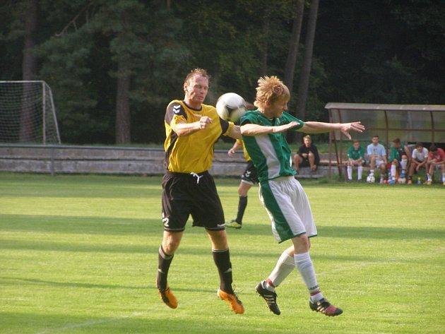 Z utkání fotbalového okresního přeboru Slovan Poděbrady - Rožďalovice (3:0)