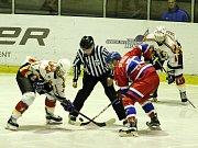Z hokejového utkání play off druhé ligy Nymburk - Jablonec nad Nisou (3:6)