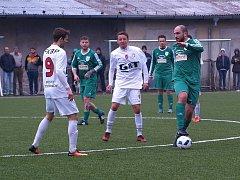 Z fotbalového utkání I.A třídy Bohemia Poděbrady - Pěčice (1:0)