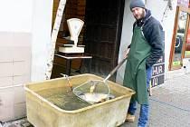 Prodej ryb na Boleslavské třídě