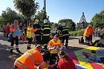 Cvičení složek IZS se o víkendu uskutečnilo v milovickém zábavním parku.
