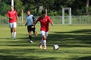 Z přípravného fotbalového utkání Ostrá - Zápy