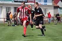 Z fotbalového utkání I.B třídy Libice nad Cidlinou - Milovice (4:1)