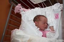 """DOMINIKA """"JE KRÁSNÁ"""". Dominika KROUPOVÁ se narodila mámě Pavlíně a tátovi Martinovi z Nymburka 28. listopadu 2015 v 14.15 hodin. Holčička s mírami 3 170 g a 49 cm udělala radost nejen jim, ale i čtyřletému bráškovi Adamovi. Ten prohlásil, že """"je krásná""""."""