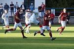 Z fotbalového utkání krajského přeboru Bohemia Poděbrady - Tuchlovice (0:0, na penalty 4:2)