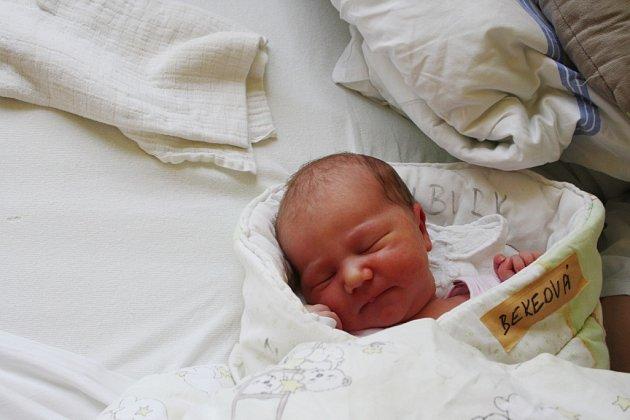 Aneta BEKEOVÁ přišla na svět 23. září 2015 v 5.37 hodin. Holčička vážila 3 580 g a měřila 50 cm.  Její maminka  Lucie a táta Martin věděli, že domů do Milovic přivezou patnáctiměsíční Terezce na hraní holčičku.