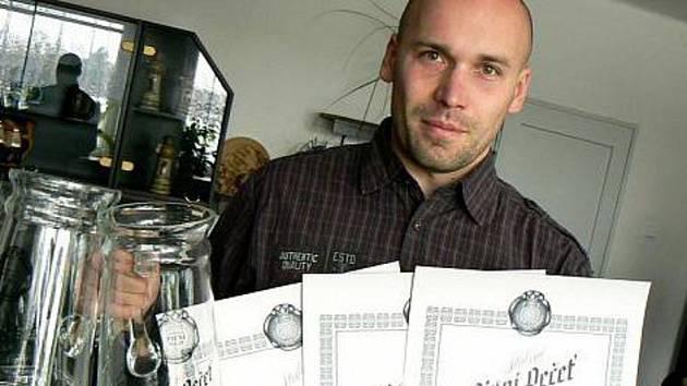 Sládek nymburského pivovaru Bohumil Valenta.