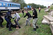 Mezinárodní policejní cvičení Railex 2017 se konalo uplynulé dva dny v nymburském železničním depu.
