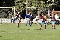 Z fotbalového utkání I.B třídy Slovan Poděbrady - Vrdy (8:2)