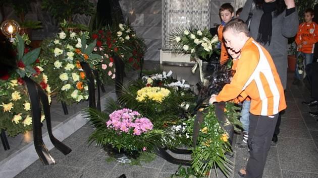 Z pohřbu Jaroslava B.
