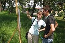 Studenti malovali v přírodě