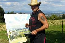 Jan Severa, malíř a pořadatel Brandýského Montmartru