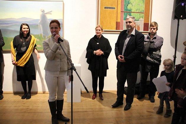 V sobotu 2. prosince představila Galerie Středočeského kraje na slavnostní vernisáži novou podobu stálé expozice Stavy mysli / Za obrazem s podtitulem Obměny a intervence.