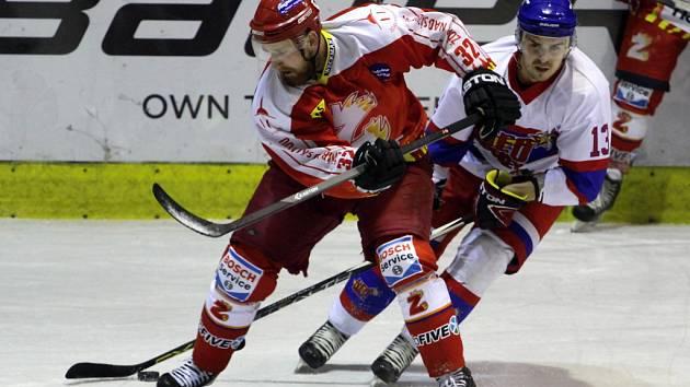 Z utkání Nymburk - Žďár nad Sázavou (2:3).