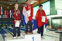 Čtrnáctiletý Martin Schejbal ze Sadské (vlevo) získal na mistrovství světa v Zadaru dvě stříbrné medaile
