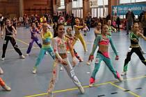 PARÁDA. V patnáctičlenném finále kategorie 7 – 9 let startovalo hned sedm poděbradských závodnic