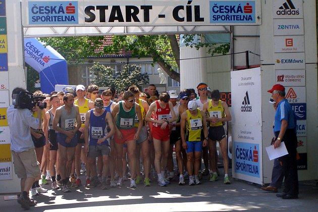 Start poděbradského půlmaratonu.