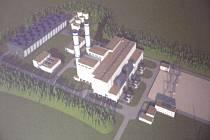 Tak měla vypadat paroplynová elektrárna u Mochova.
