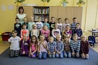 Základní škola T. G. Masaryka Poděbrady přivítala žáky v novém. Třída 1. A s třídní učitelkou Olgou Saskovou.