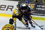 Z hokejového utkání play off druhé ligy Nymburk - Sokolov (1:4)
