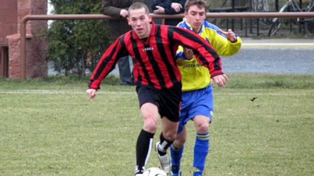 Z přípravného utkání Sokoleč - Úvaly (4:3).