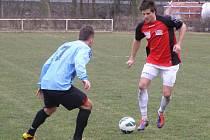 Z fotbalového utkání krajského přeboru Bohemia Poděbrady - Spartak Příbram (0:0)