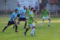Z fotbalového utkání I.A třídy Sokoleč - Mnichovo Hradiště (4:0)