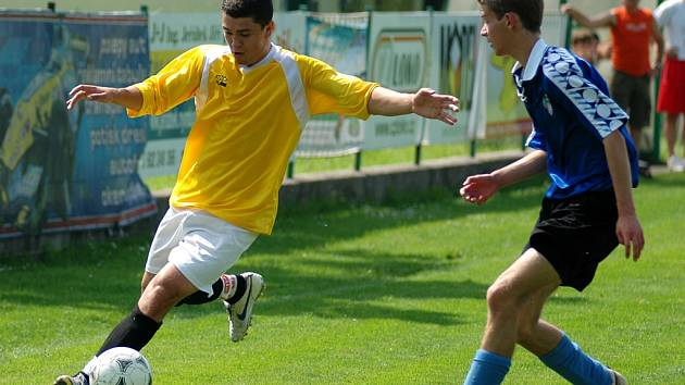 Ze zápasu staršího dorostu Polaban Nymburk - Beroun (3:1)
