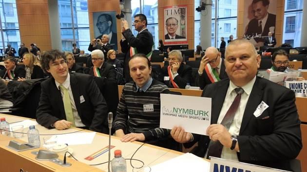 Nymburk získal v Bruselu ocenění Město sportu 2014