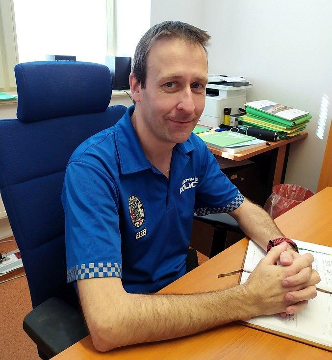Martin Rajl, vrchní strážník Městské policie Nymburk.