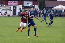 Z fotbalového utkání krajského přeboru Bohemia Poděbrady - Velim (1:1, na penalty 4:3)